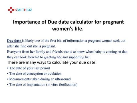 Dating calculator ultrasound Pregnancy Due