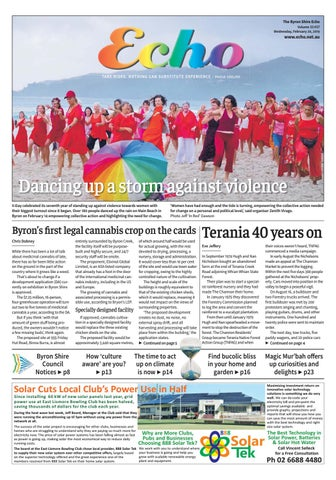 The Byron Shire Echo – Issue 33 37 – February 20, 2019 by