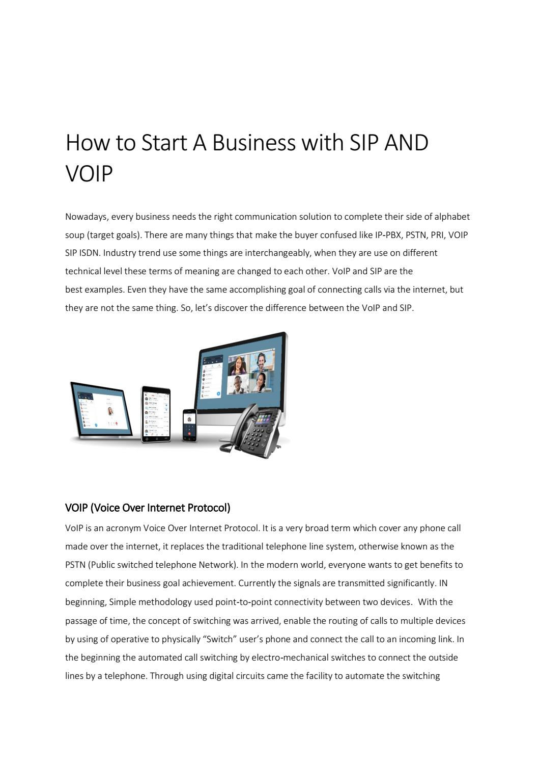 how to start a small a business with VoIP and sip by
