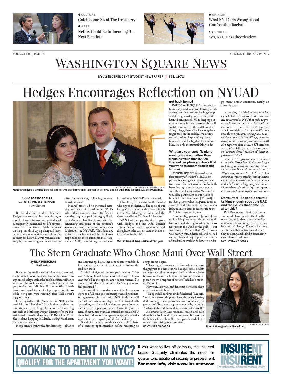 Washington Square News February 19, 2019 by Washington