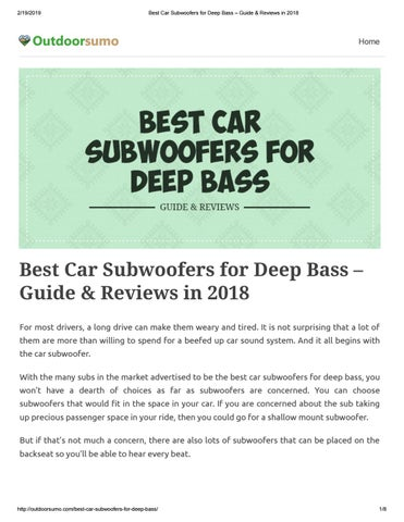 best shallow mount subwoofer - best subwoofer for car - low