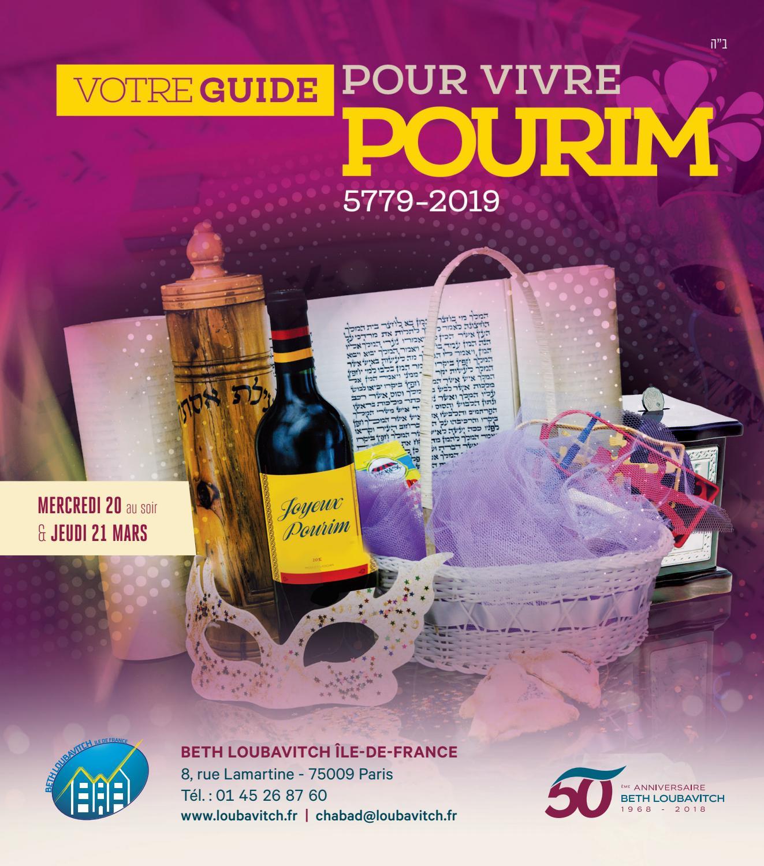 Calendrier Hebraique 5779.Votre Guide De Pourim 5779 2019 By Beth Loubavitch Paris