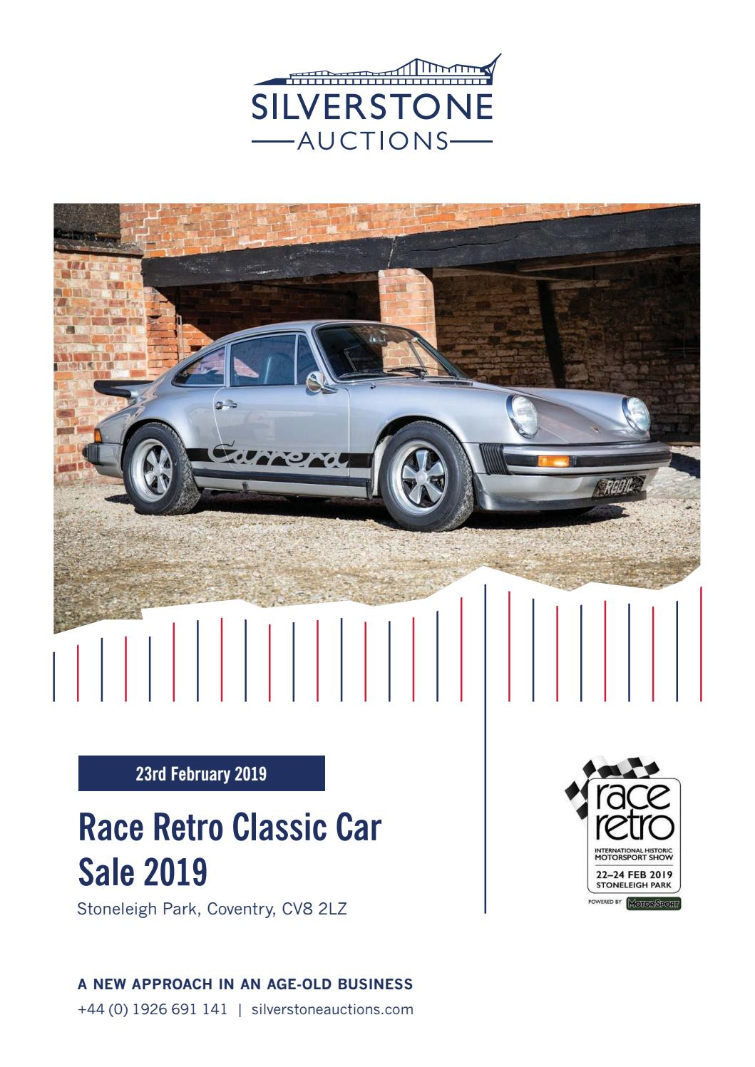 d0712c0673 Silverstone Race Retro Classic Car Sale 2019 - 23rd February 2019 by ...