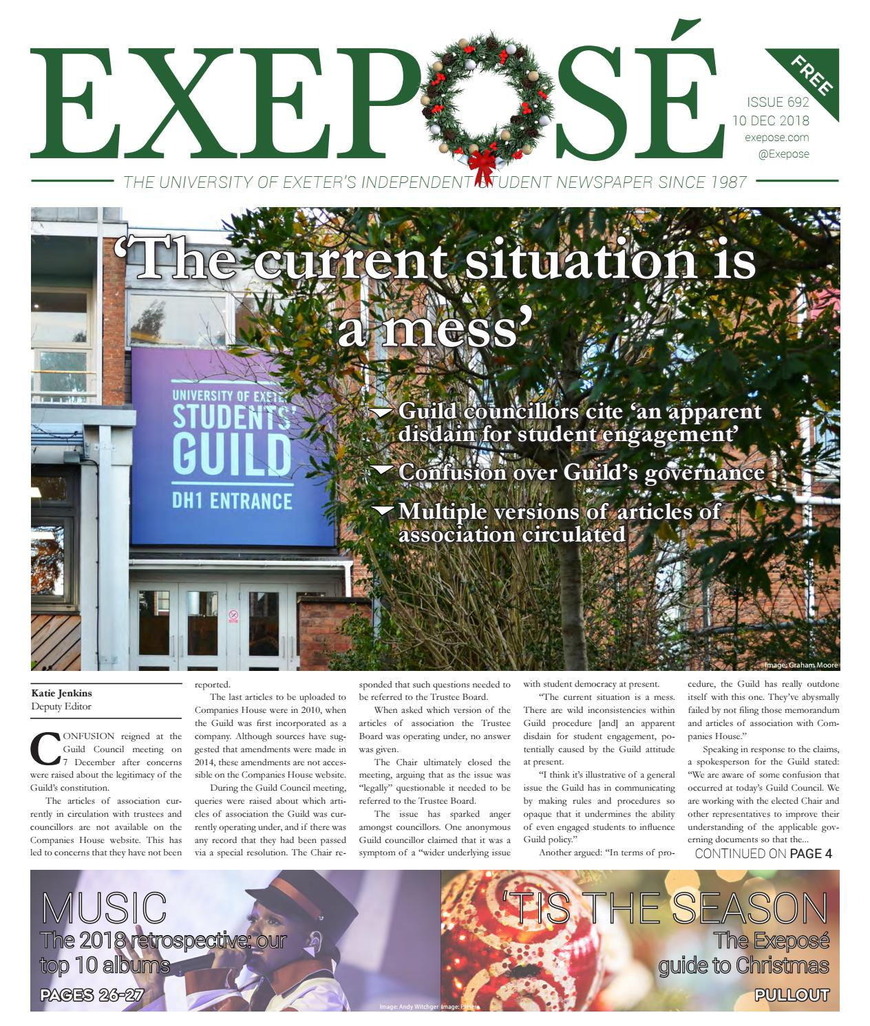 Issue 692 // 10 December 2018 by Exeposé - issuu