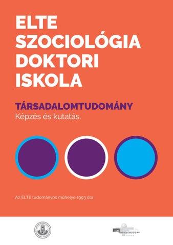 208fe7f0f4 ELTE Szociológia Doktori Iskola — tájékoztató by ELTE TáTK - issuu