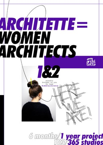 Architette=women architects here we are! 1 by