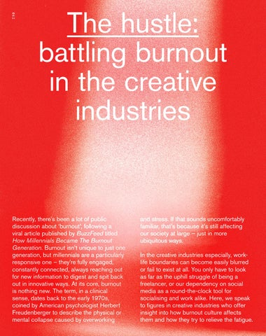 Page 42 of The Hustle: Battling Burnout in the Creative Industries