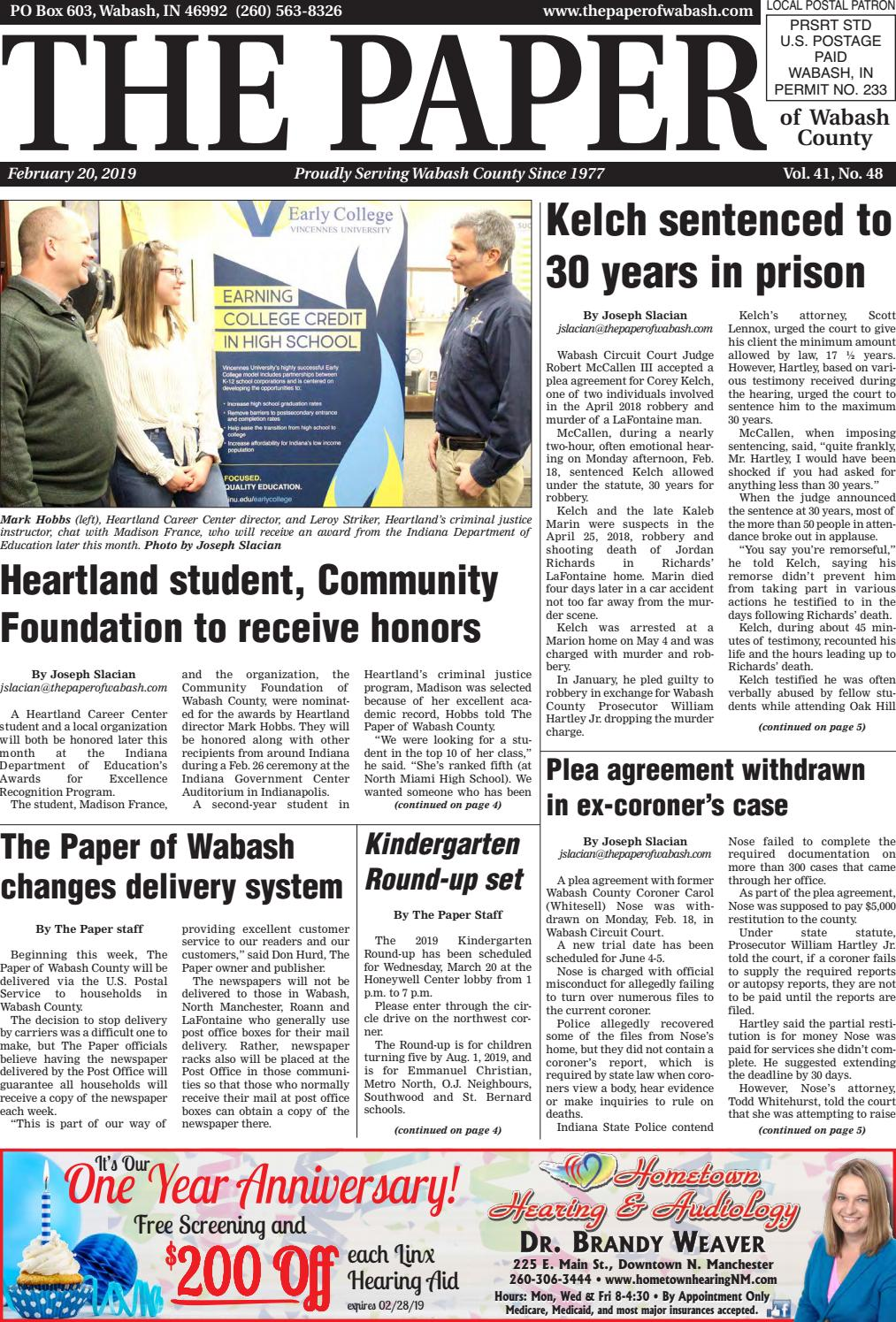 The Paper Of Wabash County Feb 20 2019 Issue By The