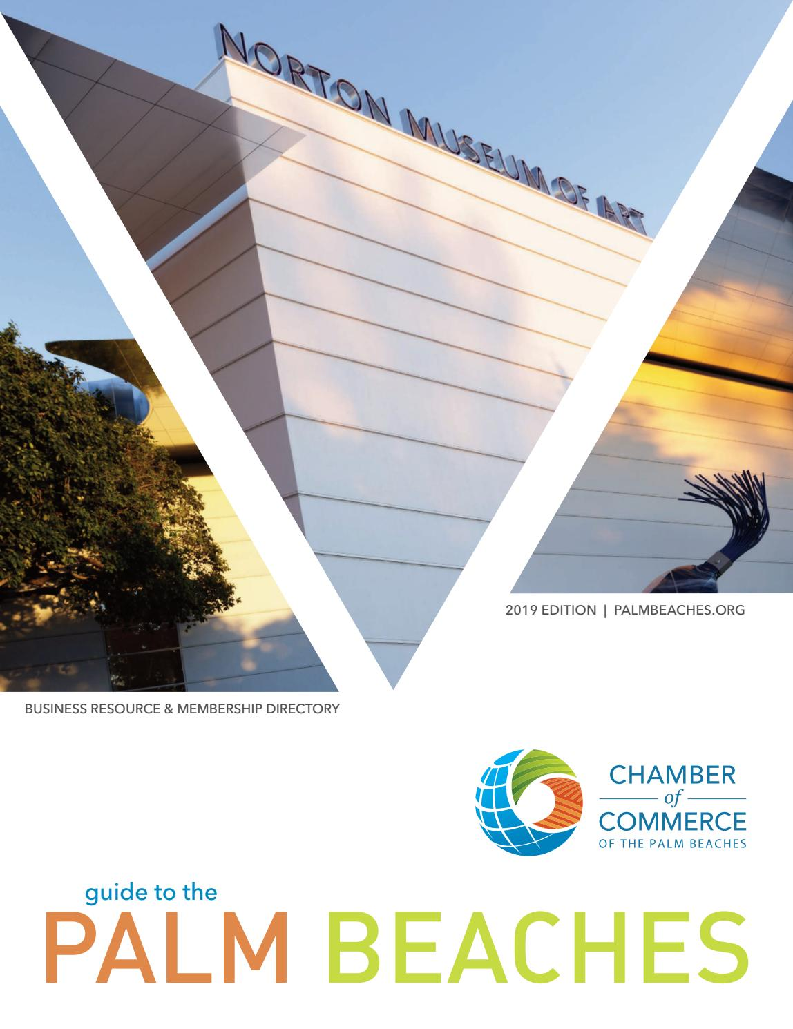 2019 Guide to the Palm Beaches by Chamber of Commerce of the