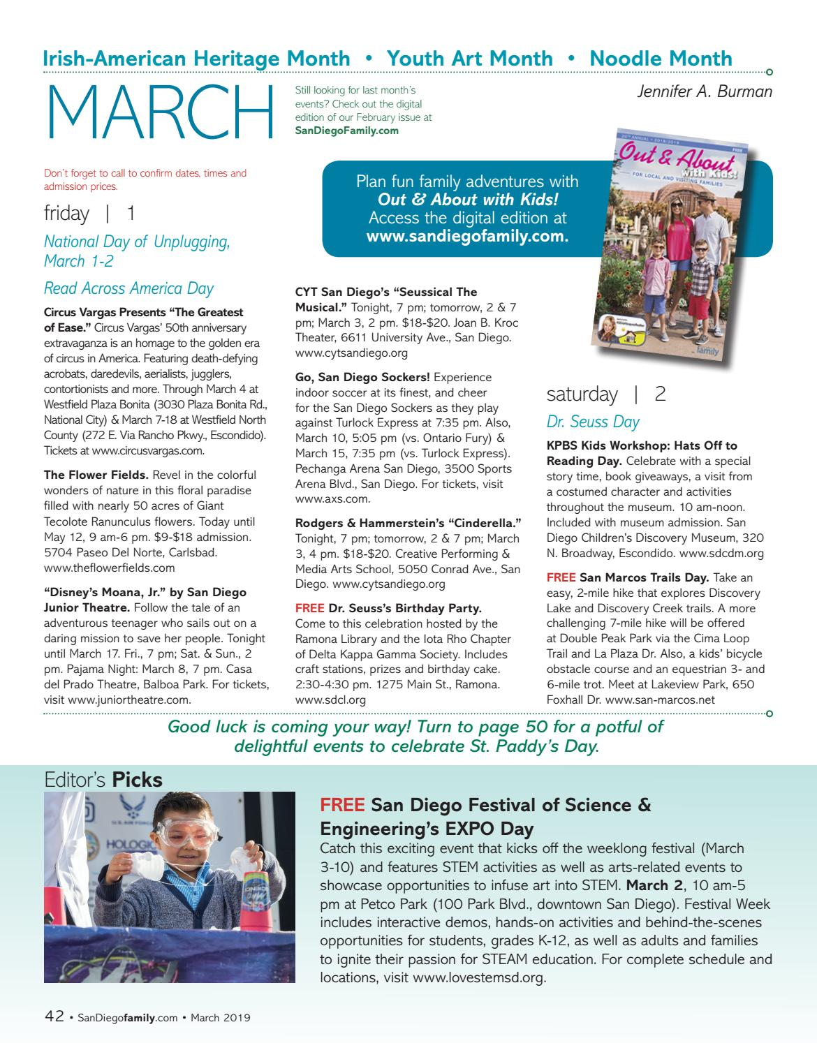San Diego Family March Issue By Magazine