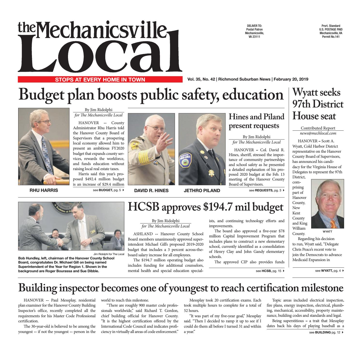 acc03c07f12 02/20/19 by The Mechanicsville Local - issuu