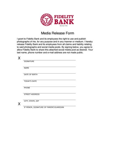 Photography Release Form by Fidelity Bank - issuu