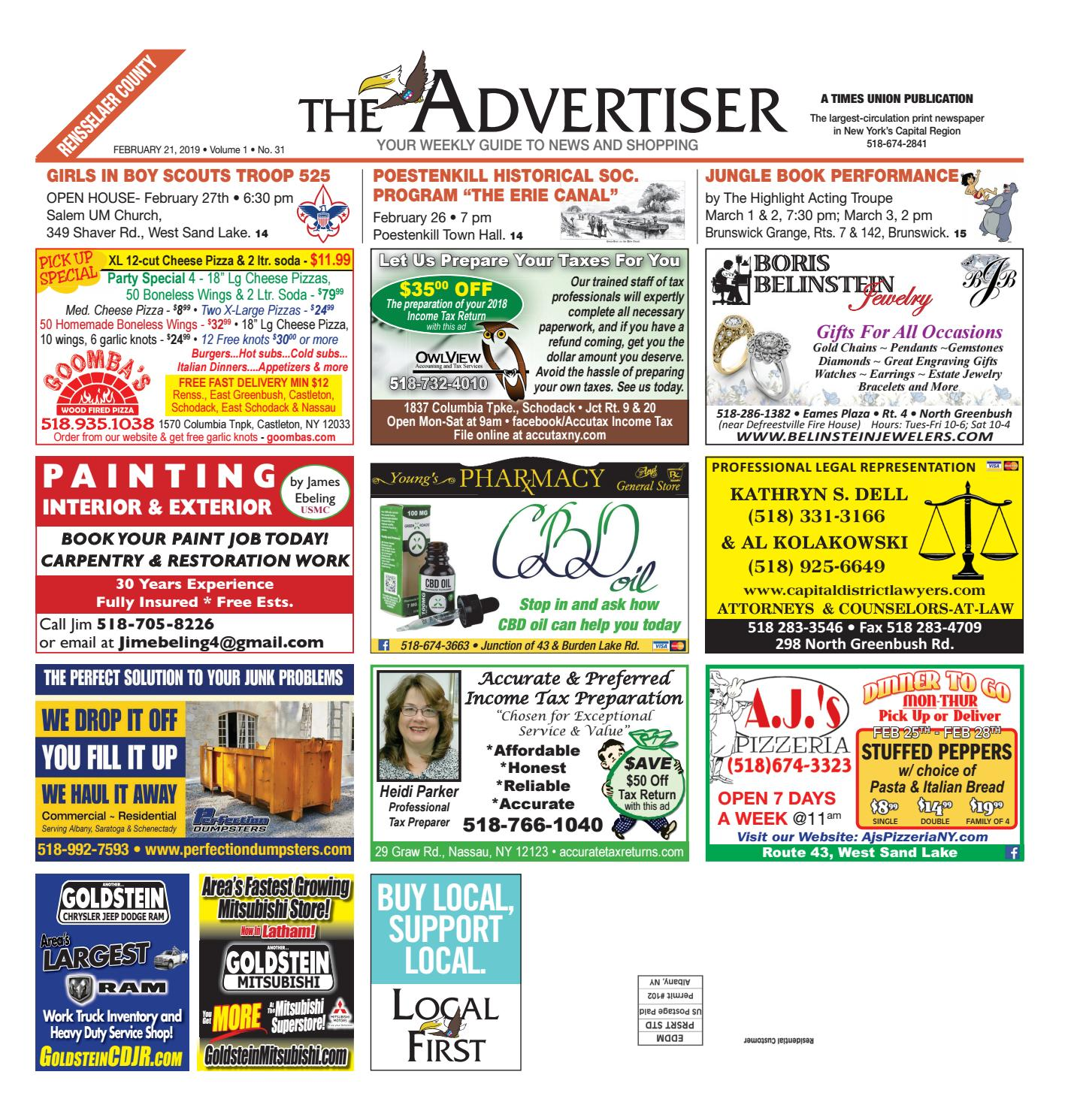 40002ba2c2bf Local First The Advertiser 022119 by Capital Region Weekly Newspapers -  issuu