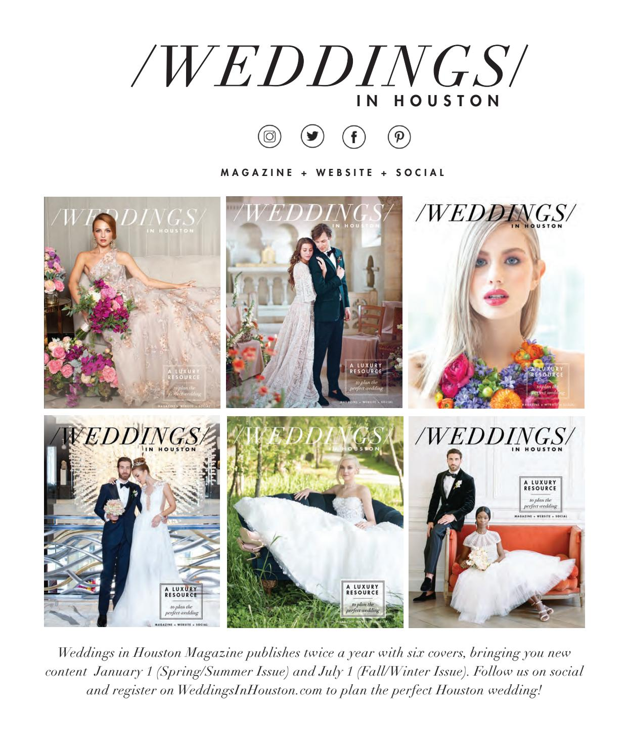 6f48b5eba Weddings in Houston Magazine - Spring-Summer 2019 Issue by Weddings in  Houston - issuu