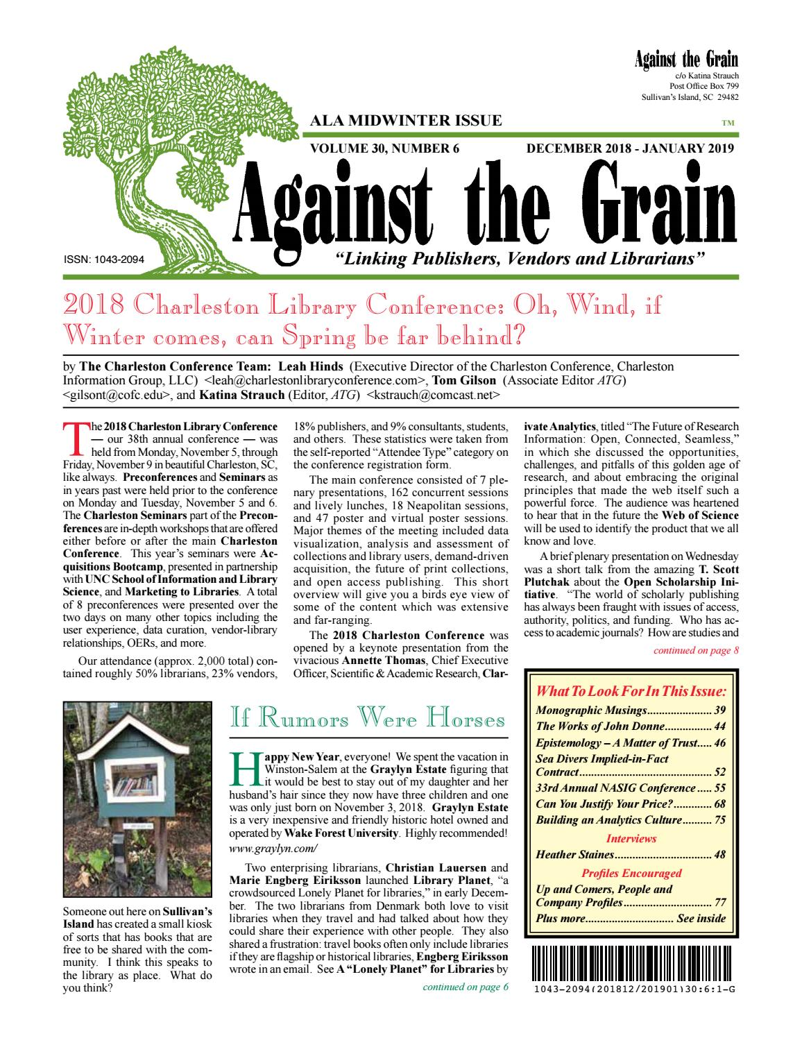 Against the Grain v30 #6 by against-the-grain - issuu