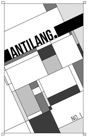 antilang  no  1 by antilangmag - issuu
