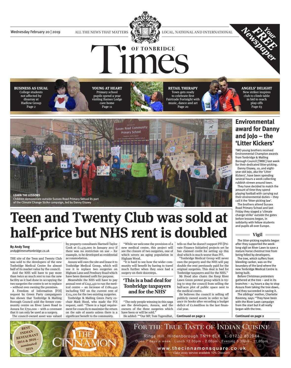 7ff774014cd2 Times of Tonbridge 20th February 2019 by One Media - issuu