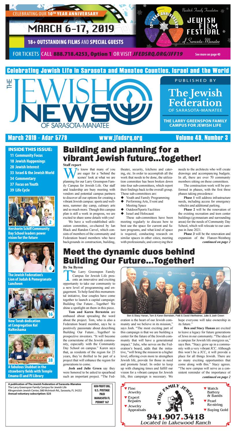 a4b8839064d The Jewish News - March 2019 by The Jewish Federation of Sarasota-Manatee -  issuu
