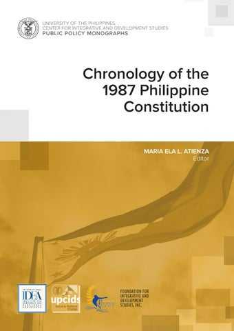 Chronology Of The 1987 Philippine Constitution By Center For