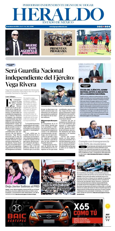 30a02155ce Miércoles 20 de febrero 2019 by Heraldo Estado de México - issuu