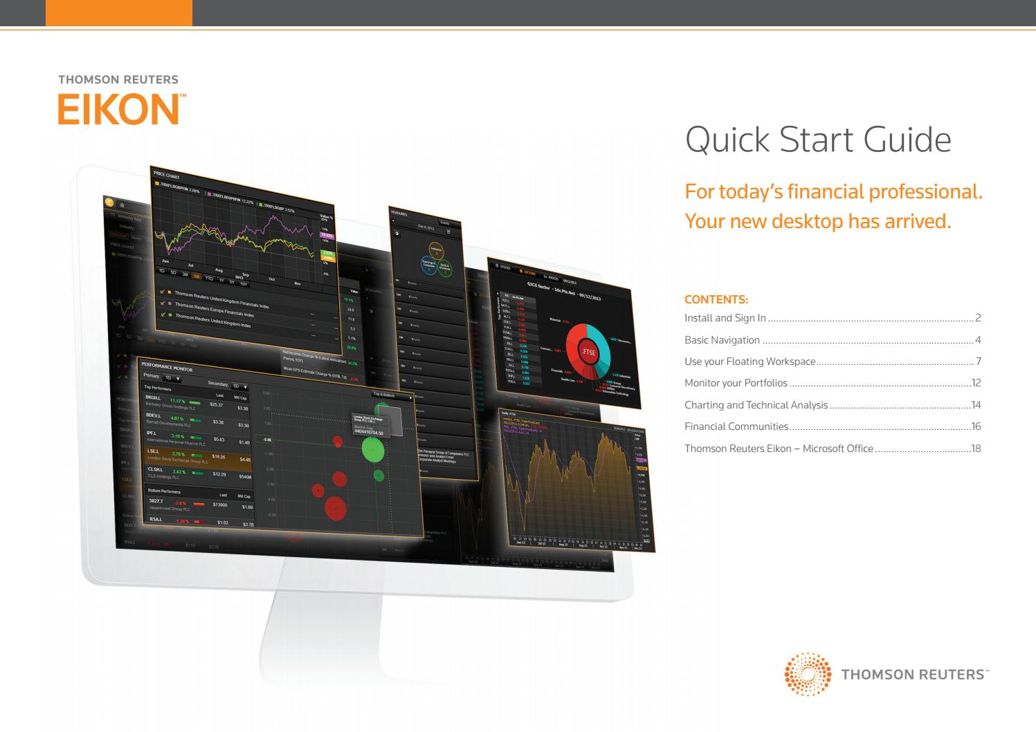 Thomson Reuters EIKON: Quick Start Guide by INCEIF Knowledge