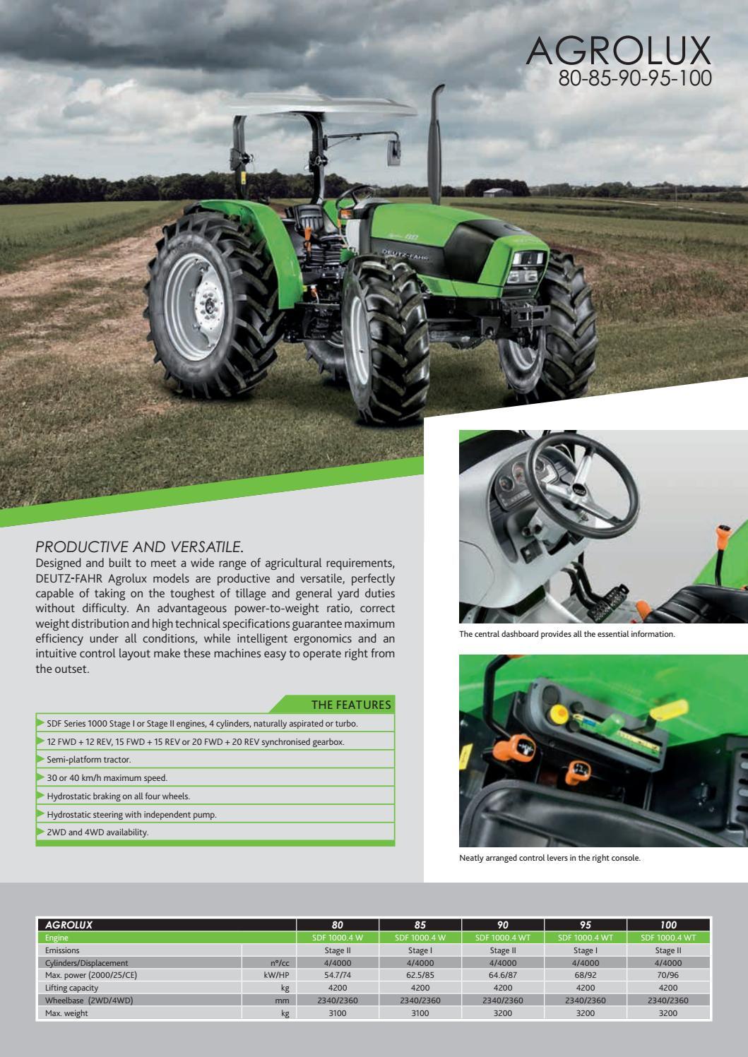 DEUTZ-FAHR Global Product range 2019 - Brochure - English by