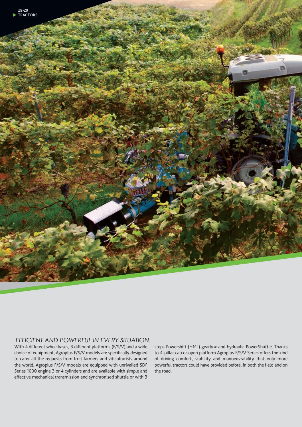 DF 33 Deutz-Fahr global product range 2020 folleto de 10//2019