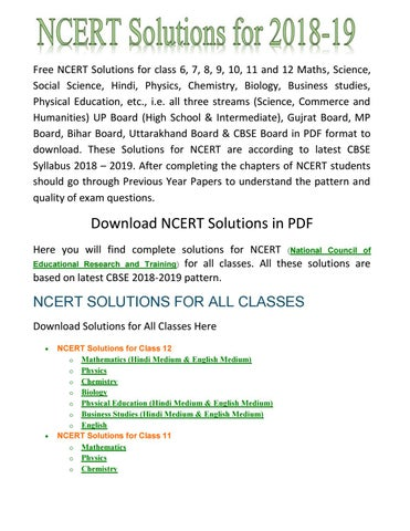 Find the Best and Simple Ncert all Classes Solutions With