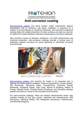 Anti-corrosion coating by protexion01 - issuu