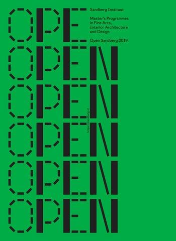 5cb23dbcb855 Open Sandberg 2019 by Sandberg Instituut - issuu