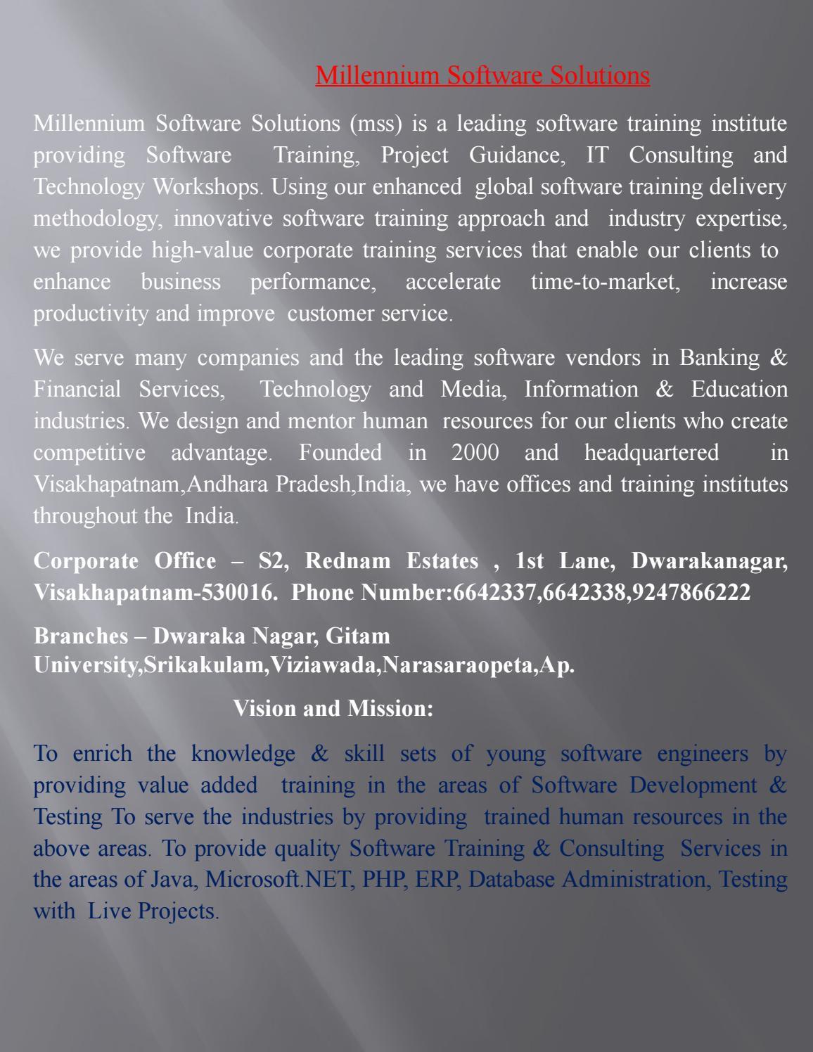Best IT Software Training Institute in Dwarakanagar