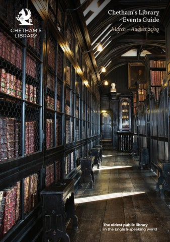 Page 1 of Chetham's Library Events Guide: March – August 2019