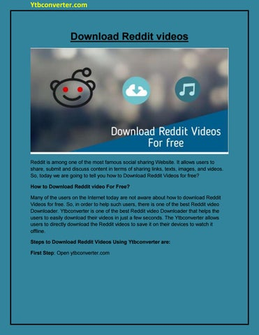 How to Download Reddit videos by akshaytrank - issuu