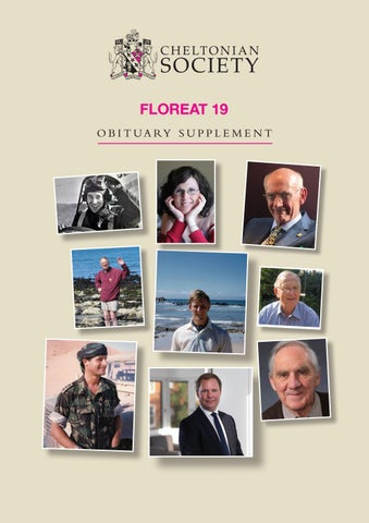 Floreat 2019 Obituary Supplement by Cheltenham College - issuu