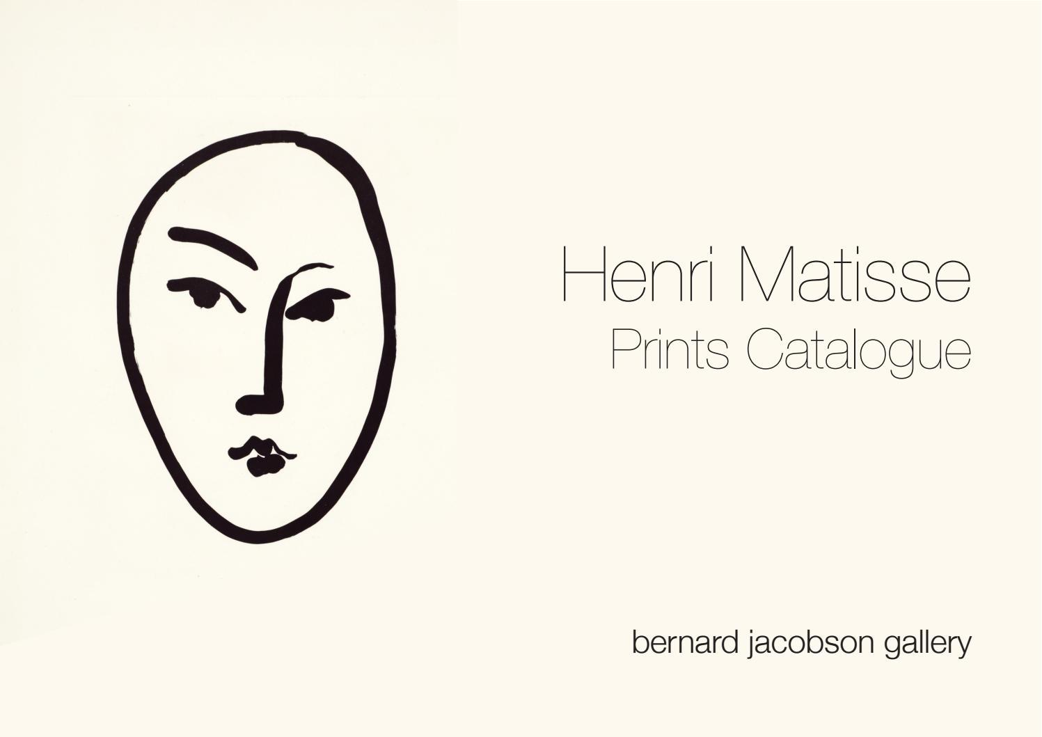 Henri Matisse Prints By Bernard Jacobson Gallery Issuu