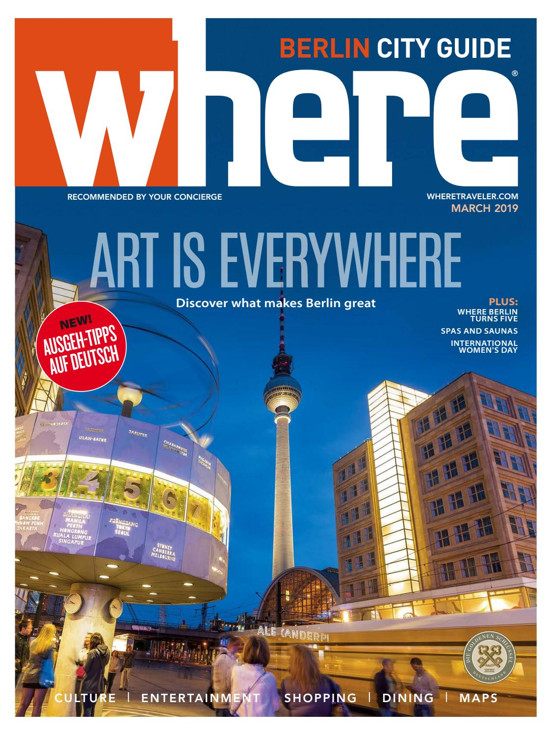 Where Magazine Berlin Mar 2019 By Morris Media Network Issuu