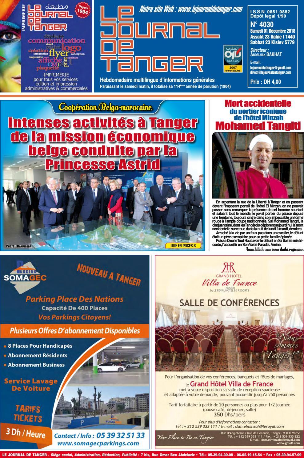 70d88b0da6a32 Le journal de Tanger 01 Décembre 2018 by Le Journal de Tanger - issuu