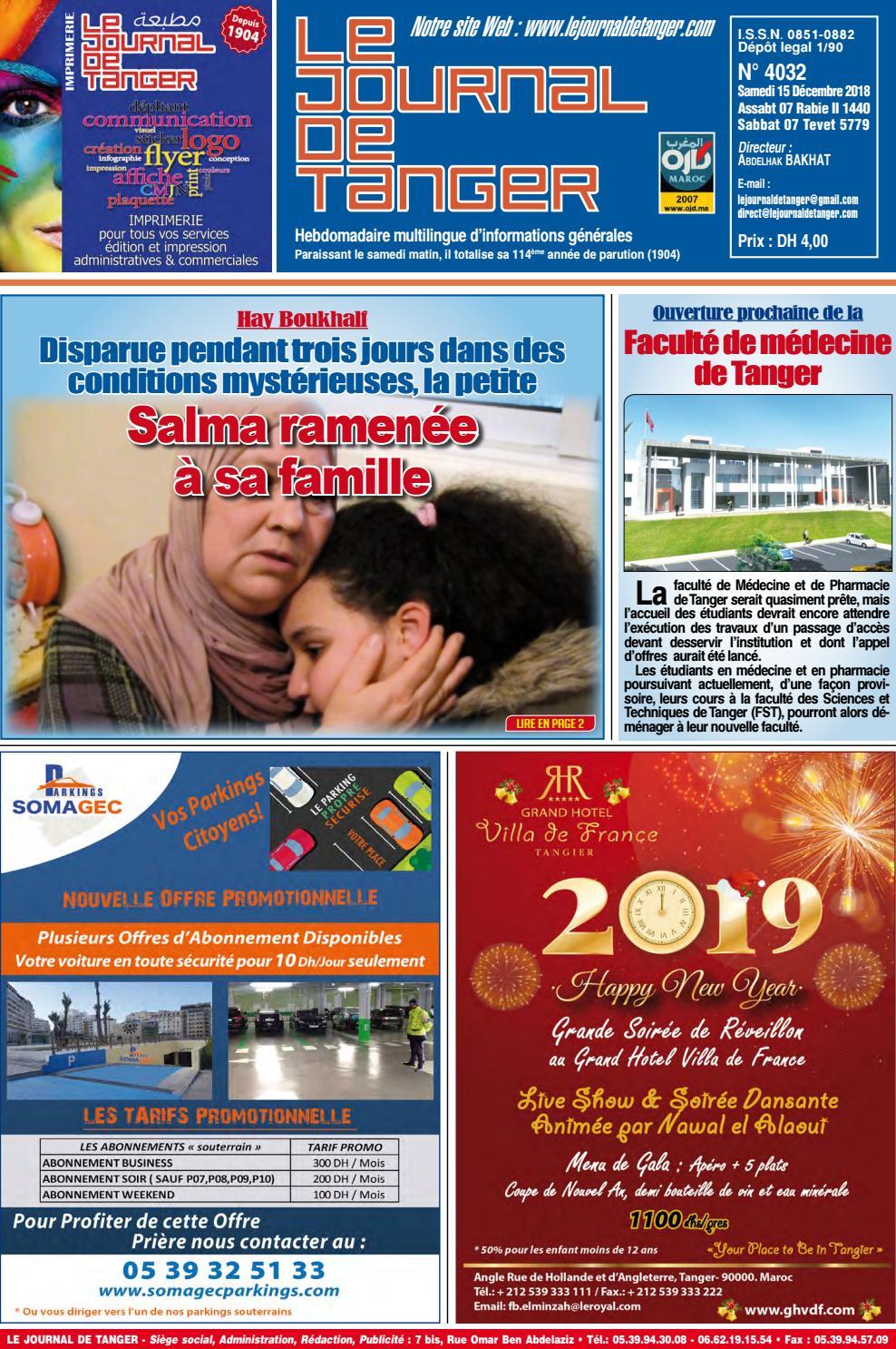 98350c78d605d Le journal de Tanger 15 Décembre 2018 by Le Journal de Tanger - issuu