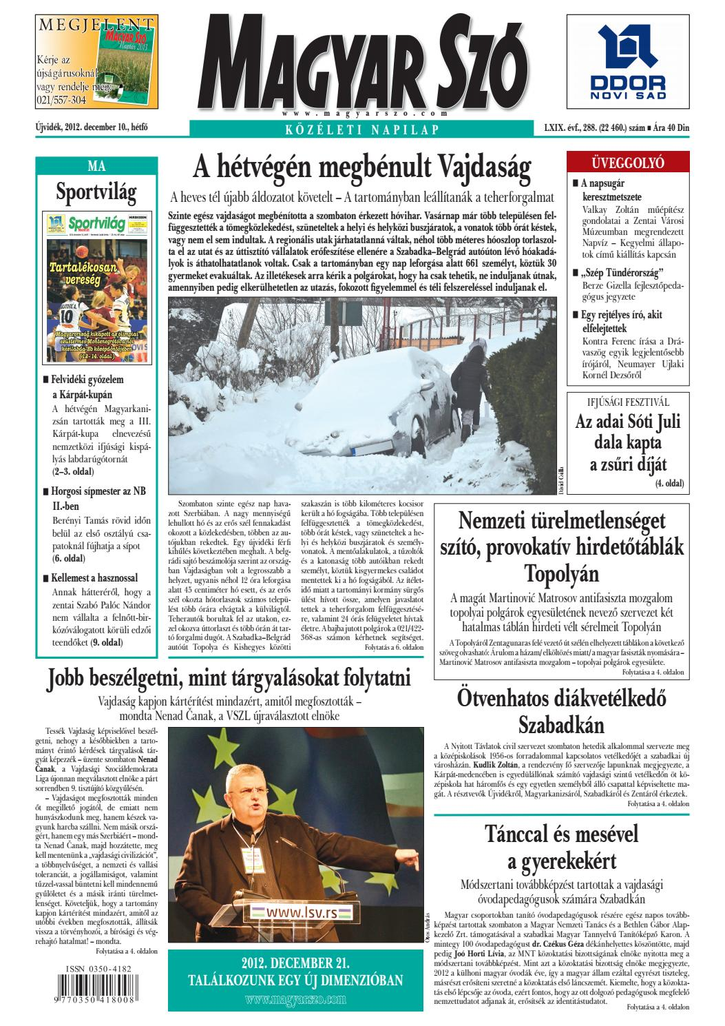1a28e3ae5d Magyar Szó, 2012. december 10. by yuhar - issuu
