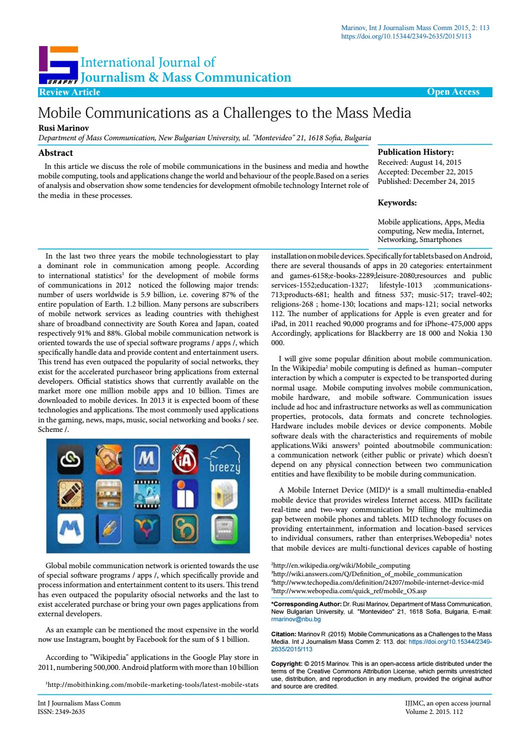 Mobile communications by Rusi_m - issuu