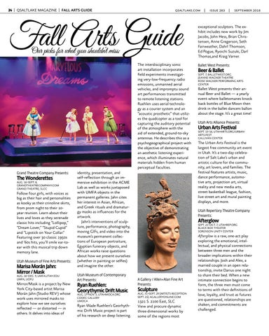 Page 24 of QSaltLake's Fall Arts Guide