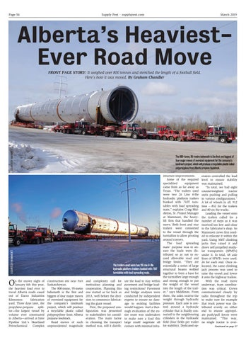 Page 56 of Alberta's Heaviest-Ever Road Move