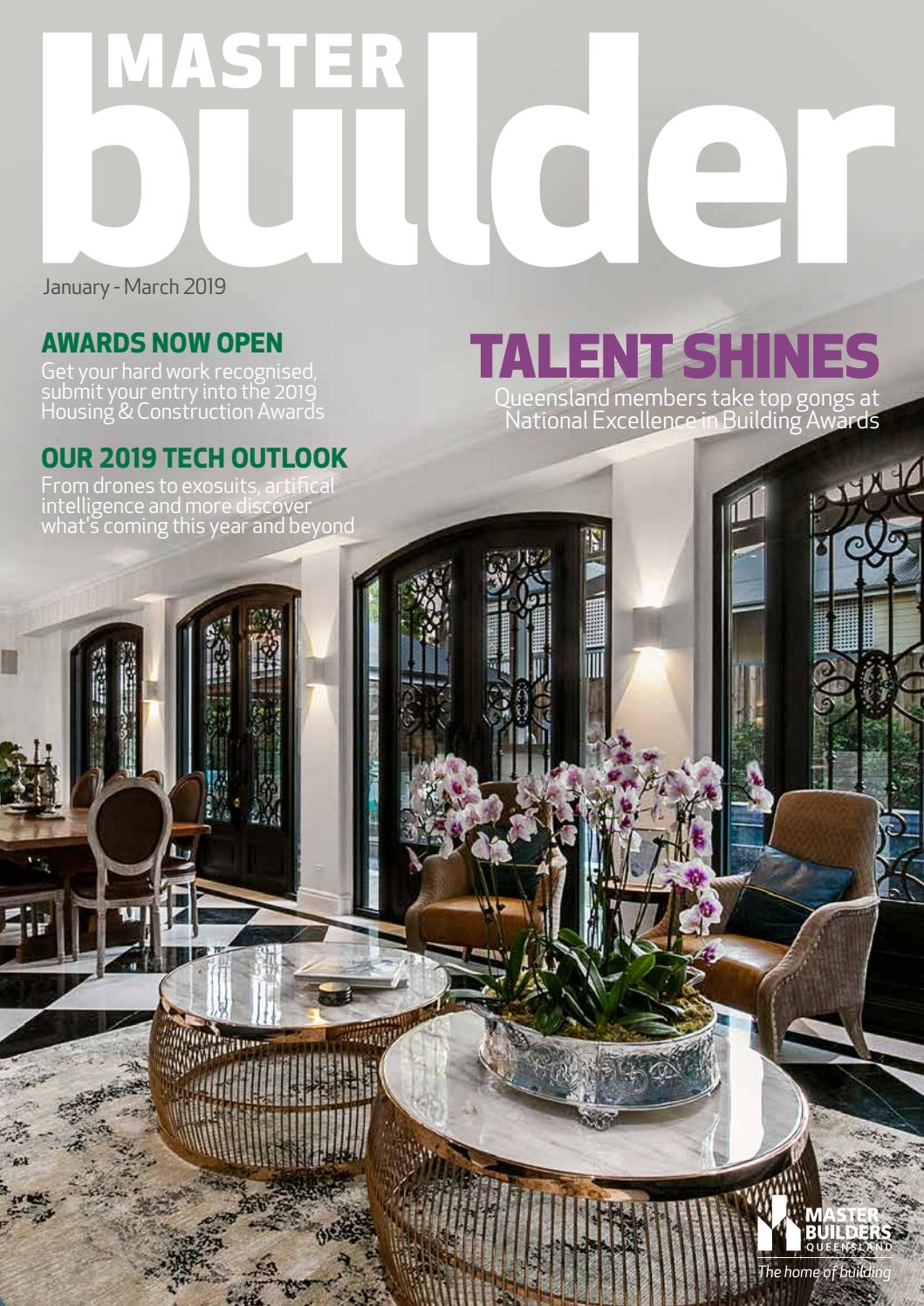 Master Builder magazine - January - March 2019 by Master Builders
