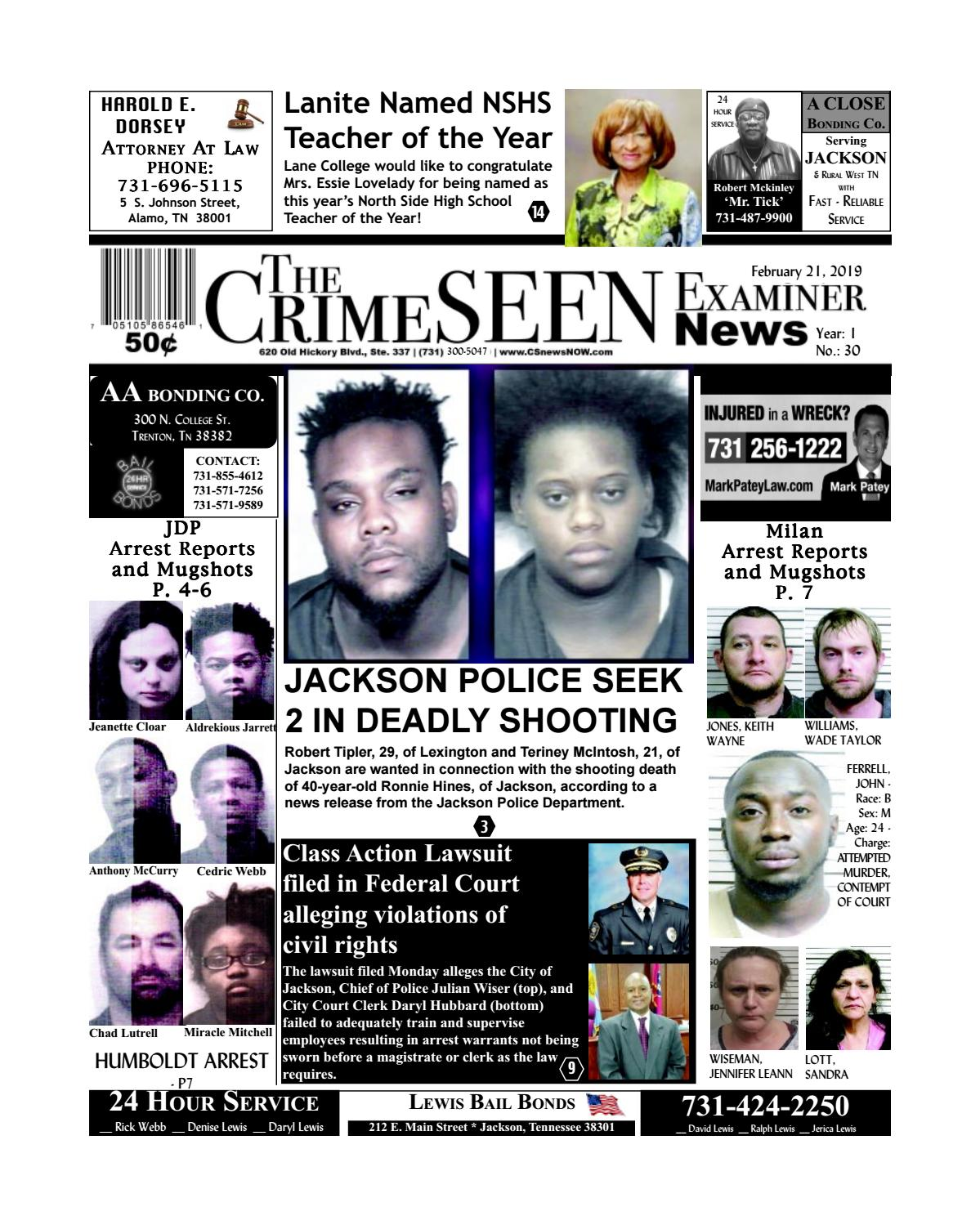 The Crimeseen Examiner News February 21 2019 By Crimeseen Examiner