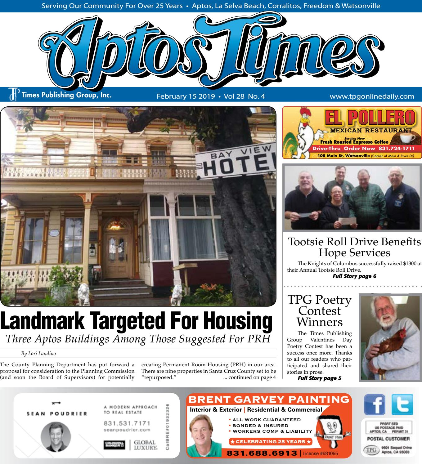 Aptos Times: February 15, 2019 by Times Publishing Group