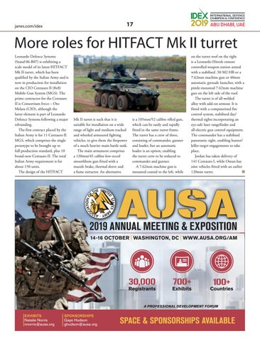 Page 17 of More roles for HITFACT Mk II turret