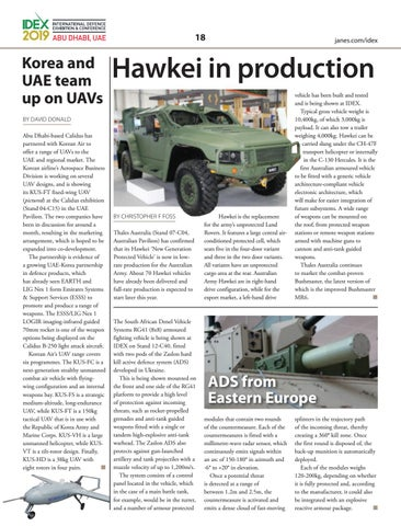 Page 18 of Hawkei in production