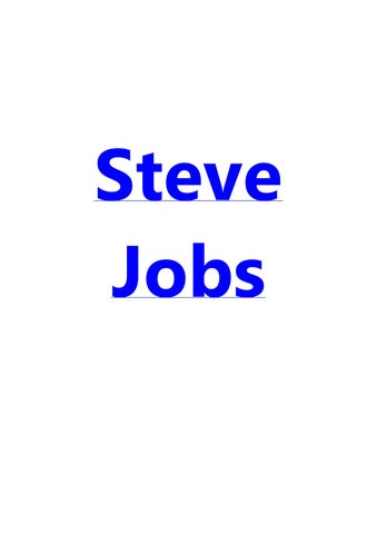 Steve Jobs Commencement Speech Thesis by timberlyndfuv - issuu