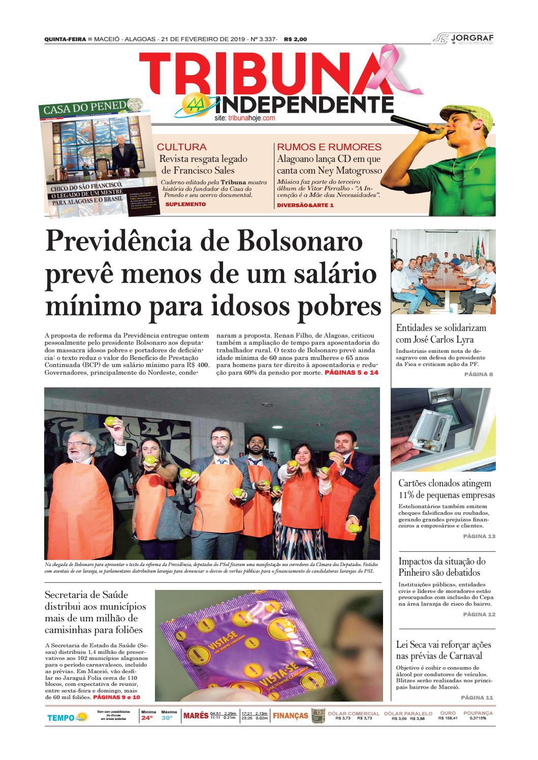 c57c6058b65 Edição número 3337 - 21 de fevereiro de 2019 by Tribuna Hoje - issuu