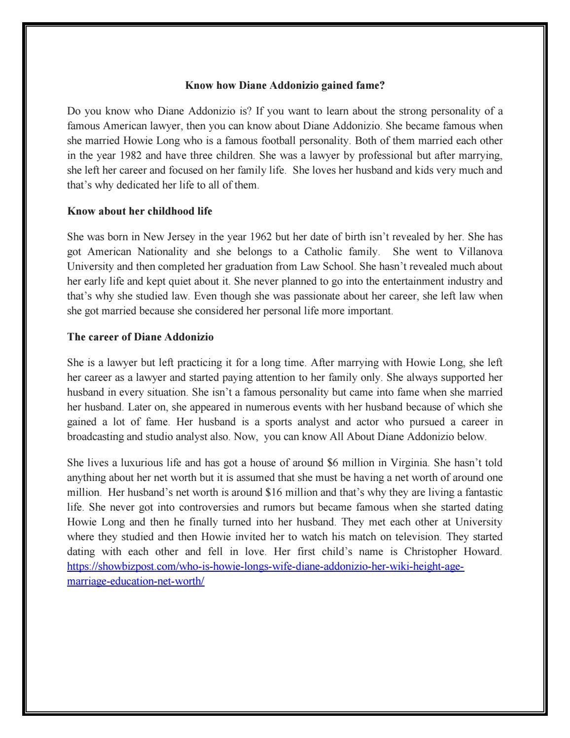 All About Diane Addonizio By Lewislarry054 Issuu Quick facts of diane addonizio. diane addonizio by lewislarry054 issuu